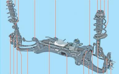 Передняя подвеска Hyundai Solaris (RB), 2010 - 2017 г.в.