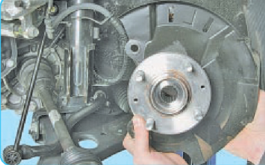 Замена переднего подшипника ступицы Hyundai Solaris (RB), 2010 - 2017 г.в.