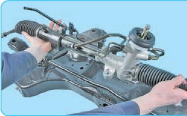 Замена рулевой тяги Hyundai Solaris (RB), 2010 - 2017 г.в.