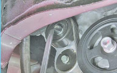 Замена ремня генератора Hyundai Solaris (RB), 2010 - 2017 г.в.