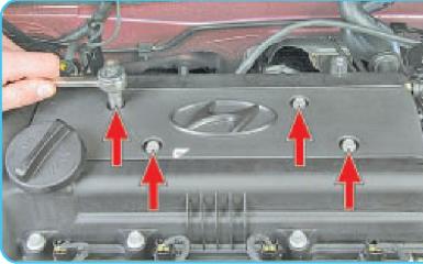 Снятие катушек зажигания Hyundai Solaris (RB), 2010 - 2017 г.в.