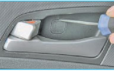 Снятие обшивки задней двери Hyundai Solaris (RB), 2010 - 2017
