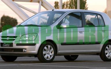 Предохранители и реле Hyundai Getz, 2002 - 2005