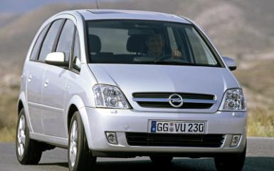 Предохранители Opel Meriva A, 2002 - 2010