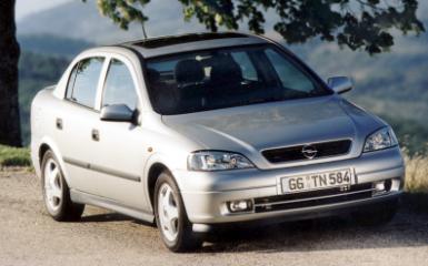 Предохранители Opel Astra G, 1998 - 2004