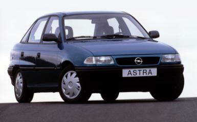 Предохранители Opel Astra F, 1991 - 1998