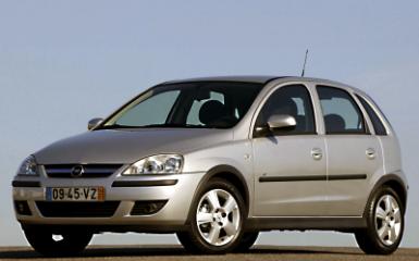Предохранители Opel Corsa C, 2000 - 2006